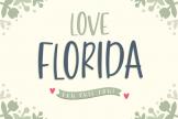 Last preview image of Love Florida – Fun & Cute Font