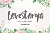 Last preview image of Lovestorya – Hand Painted Font
