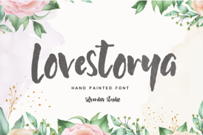 Lovestorya - Hand Painted Font