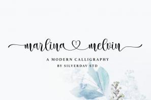 Marlina Melvin - Modern Calligraphy Font