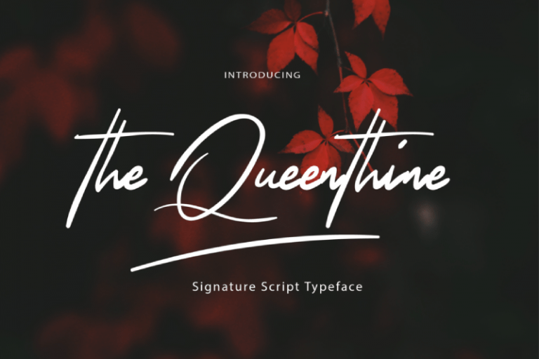 Preview image of The Queenthine – Signature Script Font
