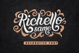 Last preview image of Richello Same – Decorative Font