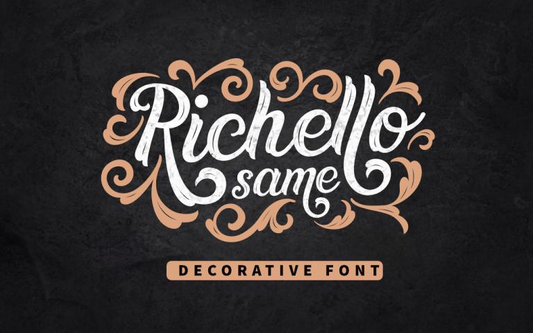 Preview image of Richello Same – Decorative Font