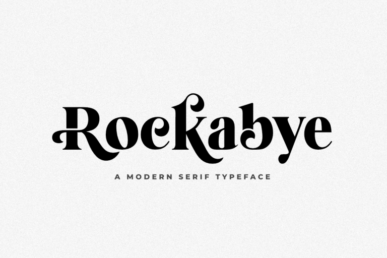 Preview image of Rockabye – A Modern Serif