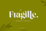 Last preview image of Fragille – A Modern Serif Typeface