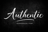 Last preview image of Authentic – Handbrush Font