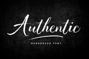 Authentic - Handbrush Font