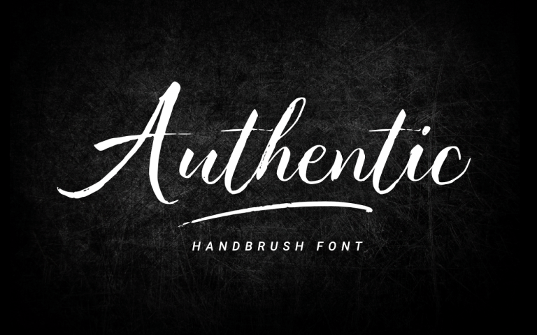 Preview image of Authentic – Handbrush Font