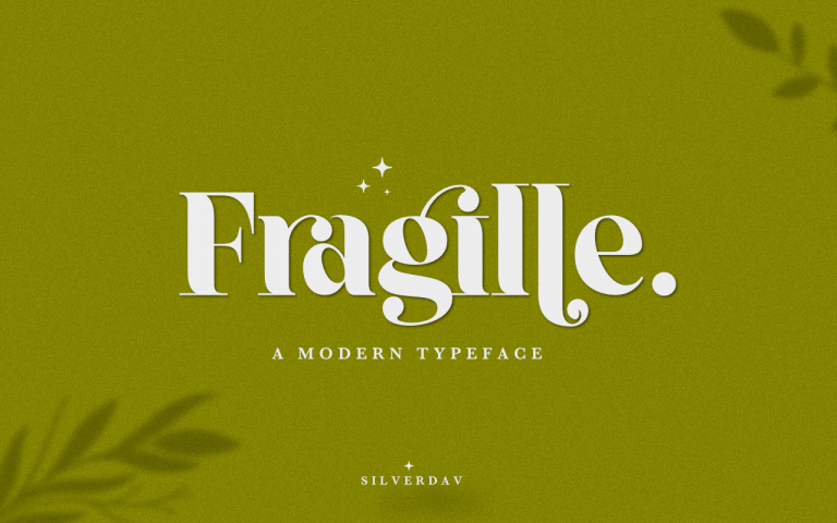 Preview image of Fragille – A Modern Serif Typeface