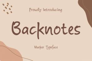 Backnotes - Marker Font