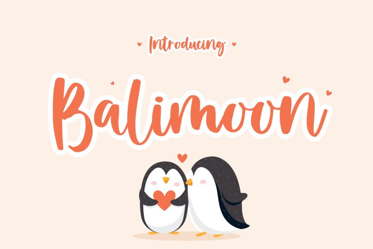 Preview image of Balimoon – Handwriting Font