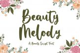Last preview image of Beauty Melody – Beauty Script Font