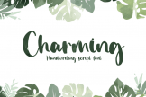 Last preview image of Charming – Handwriting Font