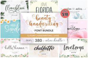 Beauty Handwriting - Font Bundle
