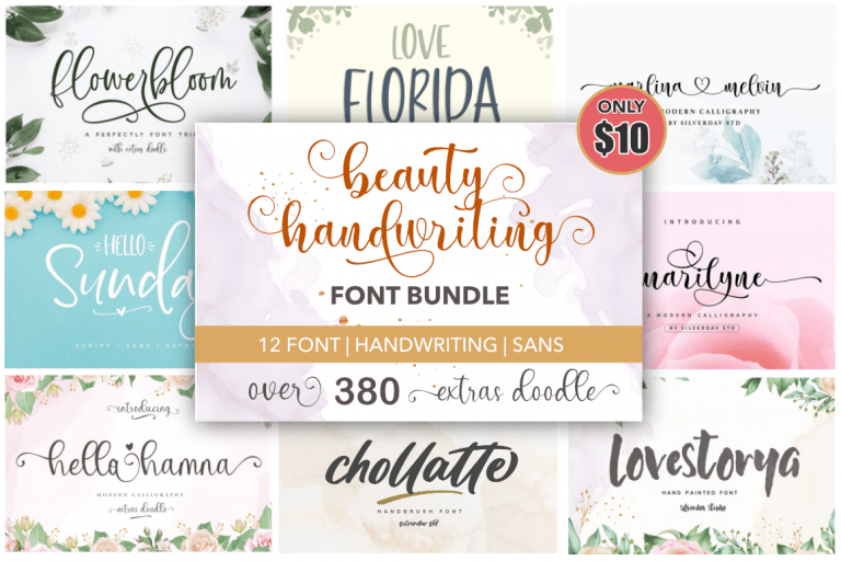 Preview image of Beauty Handwriting – Font Bundle