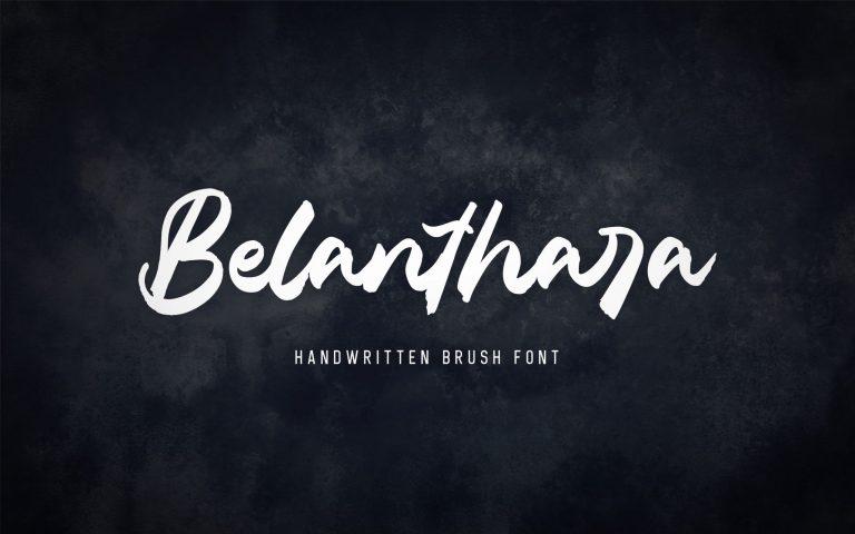 Preview image of Belanthara – Brush Font