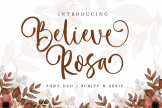 Last preview image of Believe Rosa – Font Duo