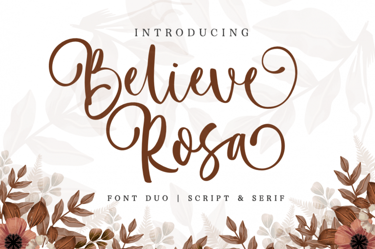 Preview image of Believe Rosa – Font Duo