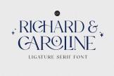 Last preview image of Richard & Caroline – Ligature Serif font