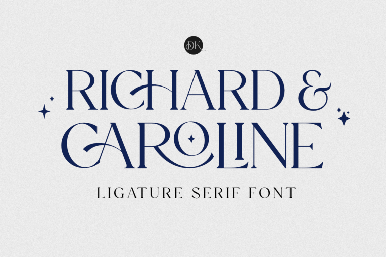 Preview image of Richard & Caroline – Ligature Serif font