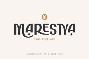 Marestya - Sans Ligature Typeface