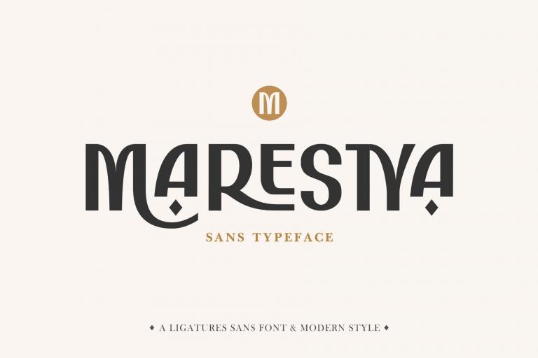 Preview image of Marestya – Sans Ligature Typeface