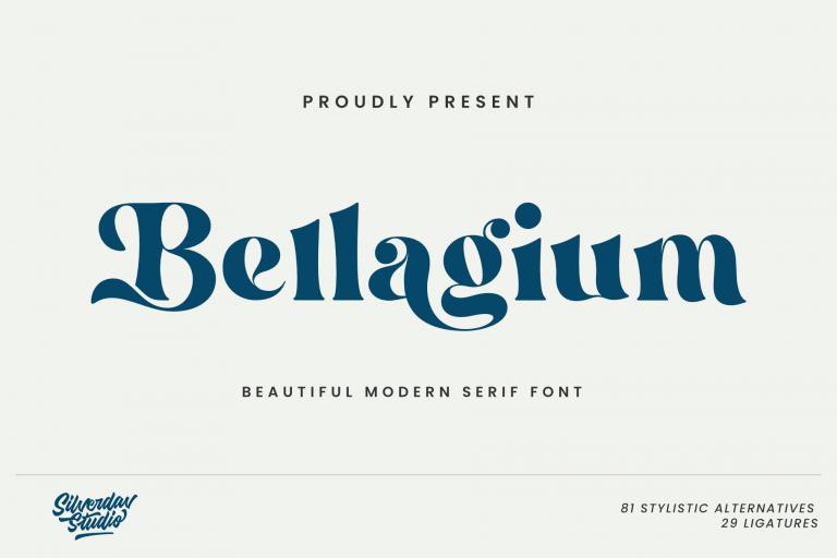 Preview image of Bellagium – Modern Serif Font