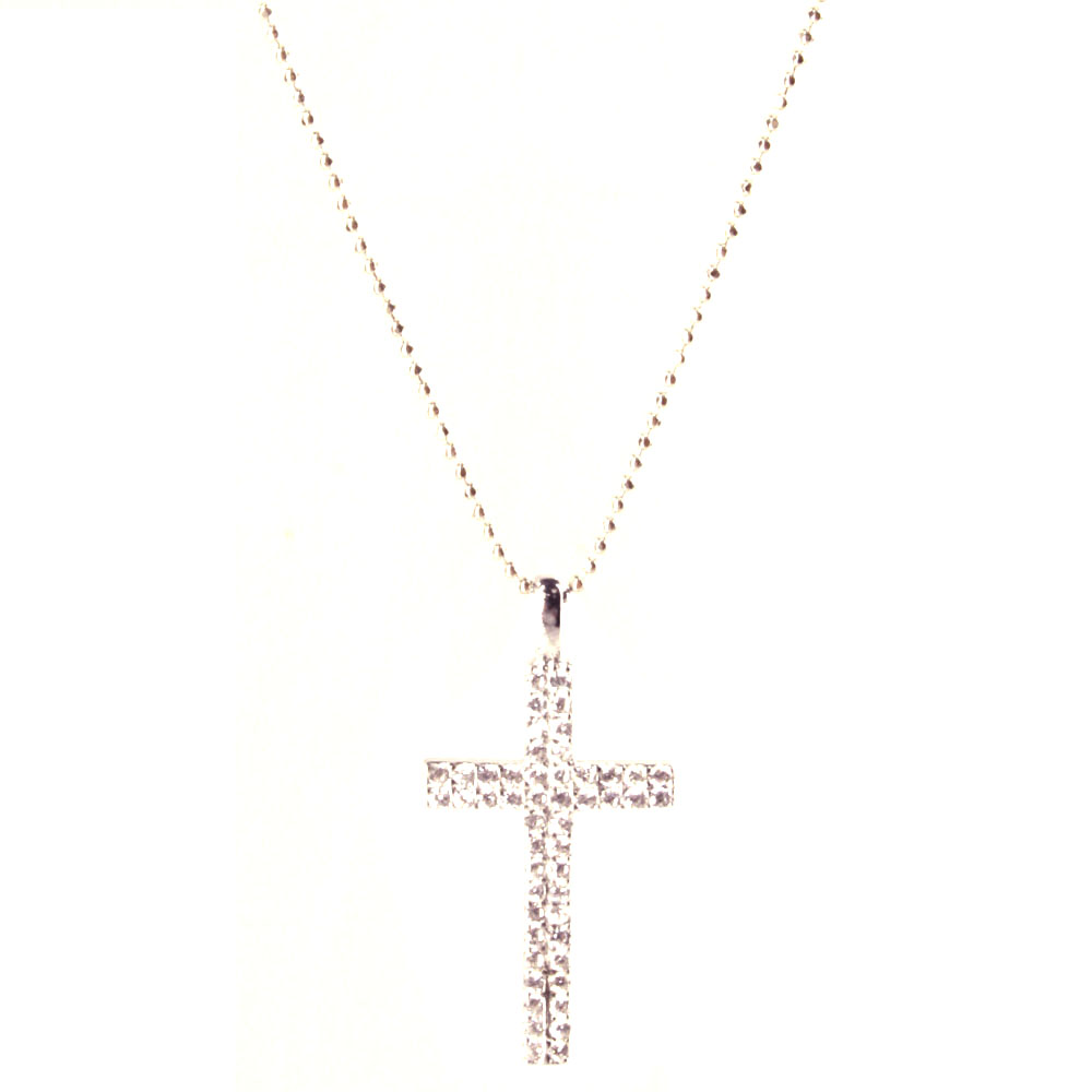 HOLIDAY GIFT SOLID CROSS .925 Sterling Silver Pendant