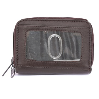 Women's Leather Wallet ID Credit Cards Cash Coin Holder Case Purse Organizer Coffee Brown