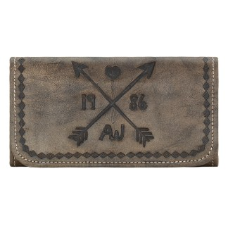 American West Cross My Heart Ladies' Tri-fold Wallet