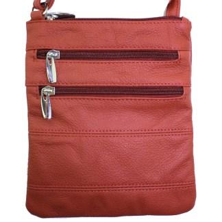 Silver Fever® Double Zip Cross Body Bag