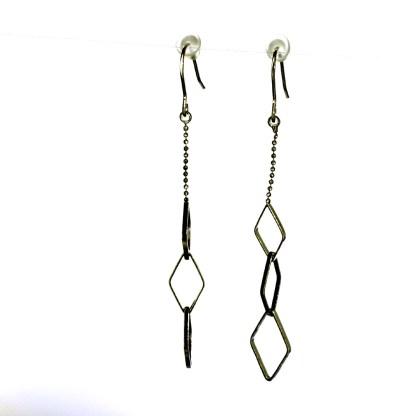 Long Drop Earrings Dainty Argile Silver