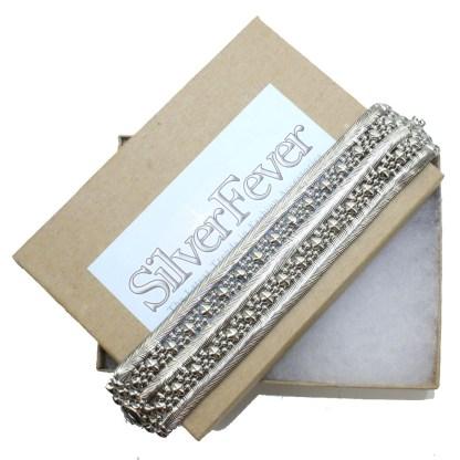 Sergio Gutierrez Liquid Metal Doted Snake Mesh Bracelet