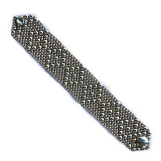 Sergio Gutierrez Liquid Metal Bracelet 8 Diamonds Pattern