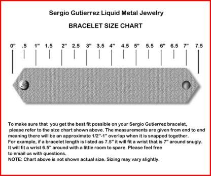 Sergio Gutierrez Liquid Metal Tiny Ball Mesh Diagonal Angled Bracelet TB27