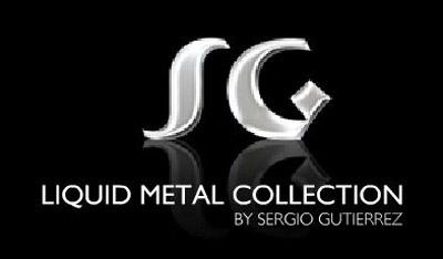 Sergio Gutierrez Liquid Metal Bracelet Wide Diamond Pattern