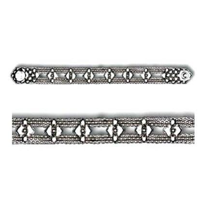 "Sergio Gutierrez Liquid Metal Mesh Cuff Bracelet 1.25"" Wide Diamond-Pattern sz 6.5"""
