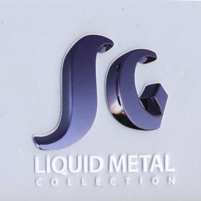 Sergio Gutierrez Liquid Metal Oval Turquoise Gem Center Stone Ring