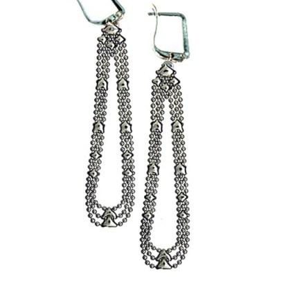 Sergio Gutierrez Liquid Metal Large Long Movable Teardrop Euro Clasp Earrings