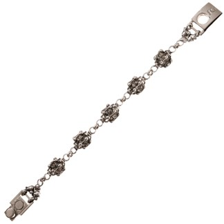 Sergio Gutierrez Liquid Metal Crystal Fireball Bracelet Together Anitque Silver RTB 25