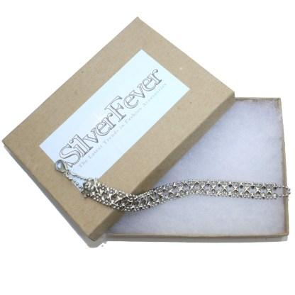 Sergio Gutierrez Liquid Metal Mesh Cuff Bracelet Mini Double Raw