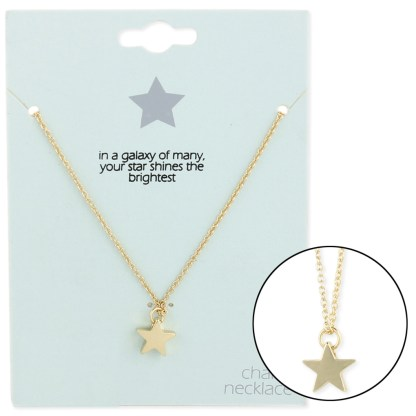 Silver Fever® Gift Ready Tiny Charm Necklace Star