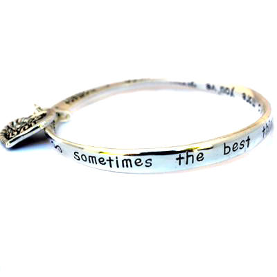 Grandmother's Heart Charm Silver Bangle GRANDMA Poem Bracelet Mothers Day Gift