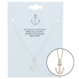 Silver Fever® Gift Ready Tiny Charm Necklace Anchor