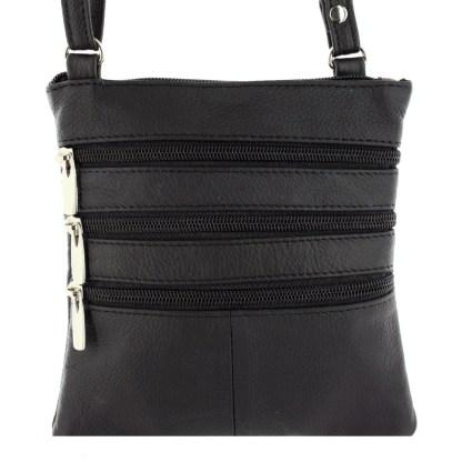 Silver Fever® Triple Zip Cross Body Bag