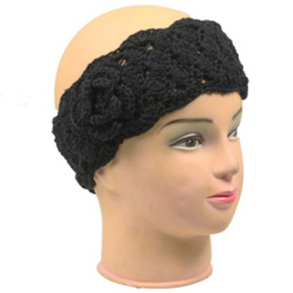 Silver Fever Braided Crochet Headband Hair band Head wrap Earmuff with Flower