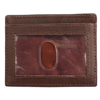 Slim Italian Leather Men's Wallet ID Credit Card Holder Genuine Cowhide Brown