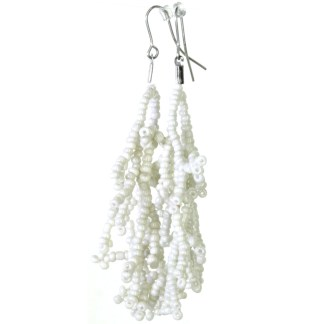 Silver Fever® Coral Branches Drop Earrings