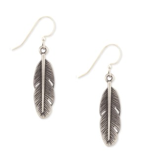 Silver Fever® Small Feather Drop Earring