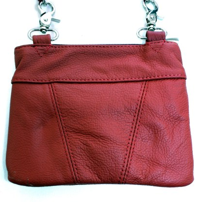 Genuine Leather Red Small Shoulder Cross Body Travel Mini Purse Bag